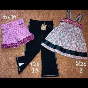 Matilda Jane lot - tunic, shorties, leggings 8/10